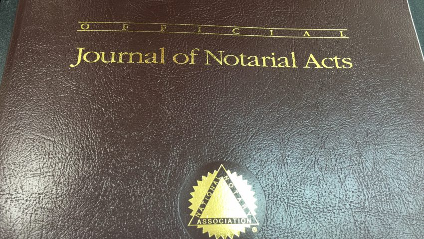 Notary Book Photo 2
