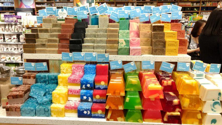 ホールフーズで売られている石鹸