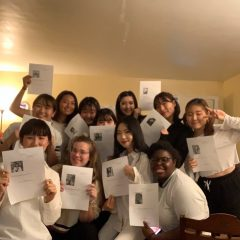 リンジーウィルソン大学に留学する澤田さんと友達